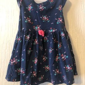 **5 for $10**navy blue and pink flower dress